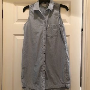 Abercrombie & Fitch blue & white striped dress, S